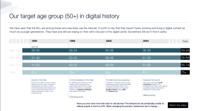 Desktop Research: Over 50s digital experience